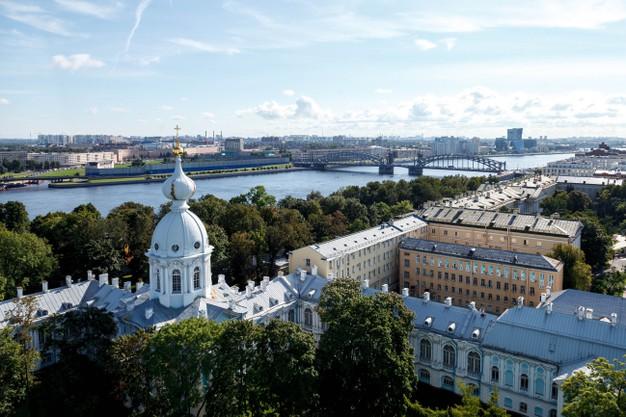 vue depuis la cathedrale smolny