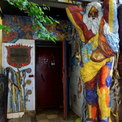 La cour de mozaique à Saint-Pétersbourg