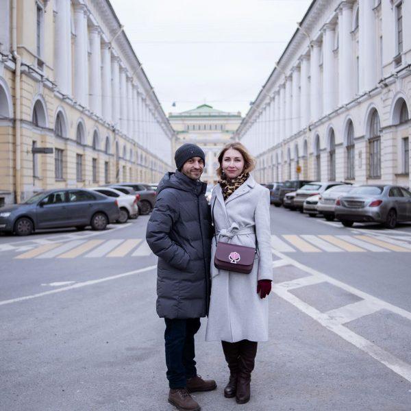 la rue parfaite à Saint-Pétersbourg