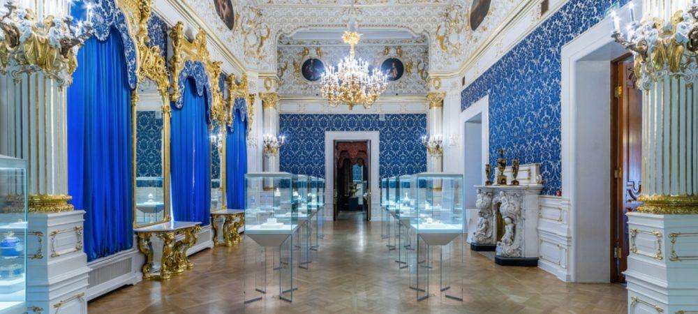 la salle bleu au musée Fabergé