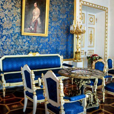 la salle bleue au palais Youssoupov