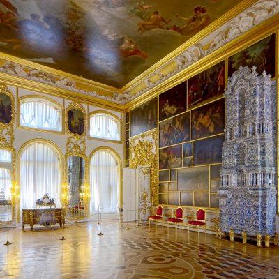la salle des tableaux dans le palais de catherine