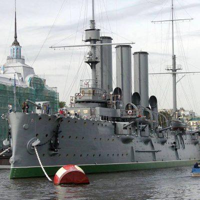 le croiseur aurore de saint-petersbourg