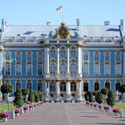 le palais de catherine à Saint-Pétersbourg