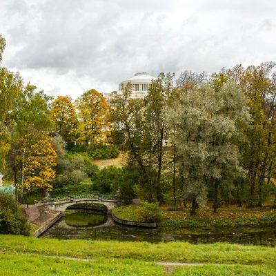 le parc paysager à Pavlovsk