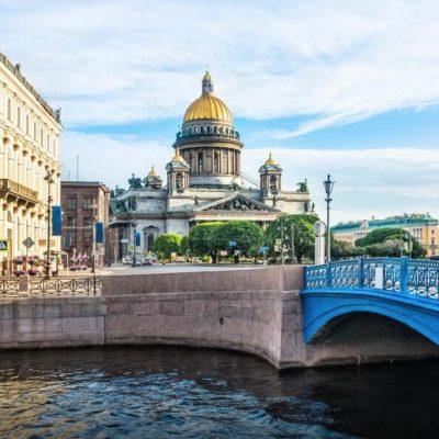 le pont bleu de saint petersbourg