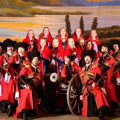 le spectacle des cosaques à Saint-Pétersbourg
