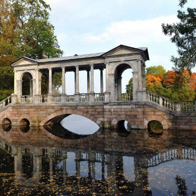 un pont au parc du palais de Catherine
